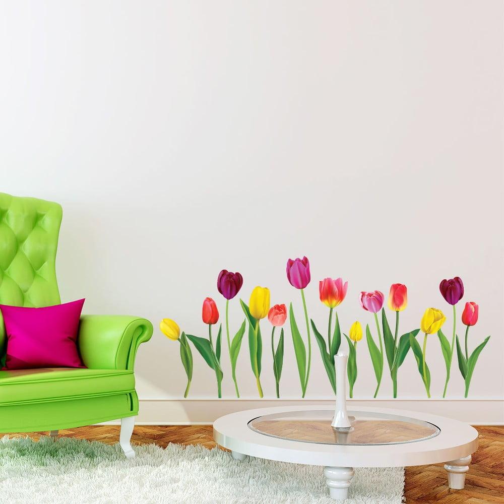 Produktové foto Sada samolepek na zeď Ambiance Colorful Tulips