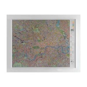 Mapa Londýna The Future Mapping Company Street map, 130x100cm