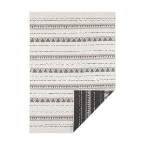 Černo-krémový oboustranný koberec vhodný i na ven Bougari Bahamas, 200 x 290 cm