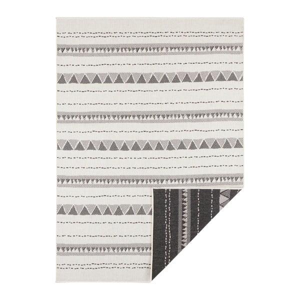 Covor reversibil adecvat interior/exterior Bougari Bahamas, 120 x 170 cm, negru-crem