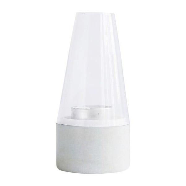 Bílá lucerna House Doctor Lantern White Marble, 22 cm
