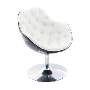 Otočná židle Pezzo, prošívaná, černá/bílá