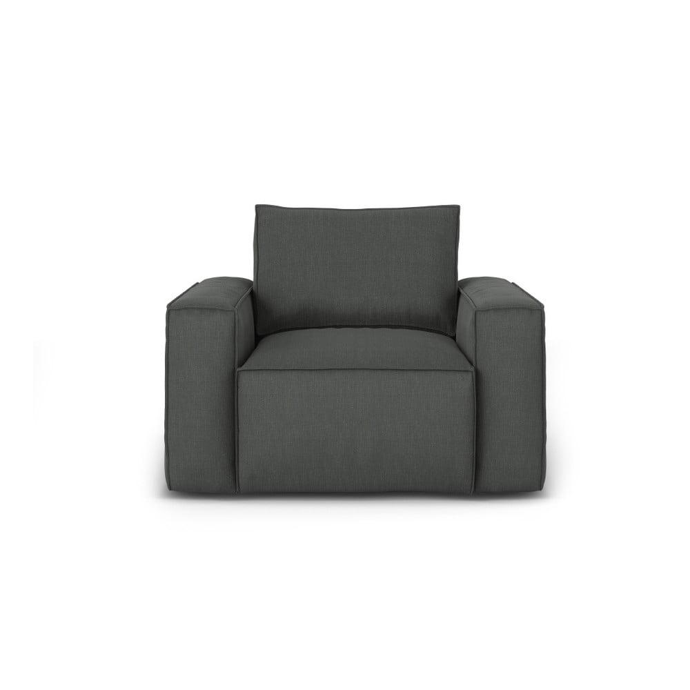 Tmavě šedé křeslo Cosmopolitan Design Miami