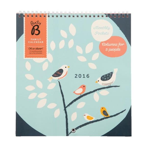 Calendar pentru familie Birds 2016