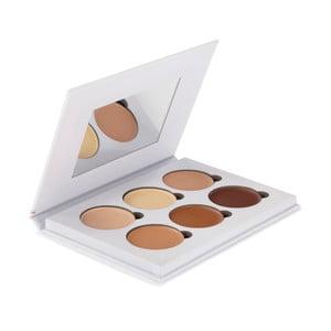 Profesionální paleta 6 barev pro rozjasnění a konturování obličeje Bellapierre White