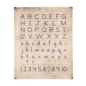 Nástěnná dřevěná dekorace Clayre&Eef Alphabet, 50 x 63 cm