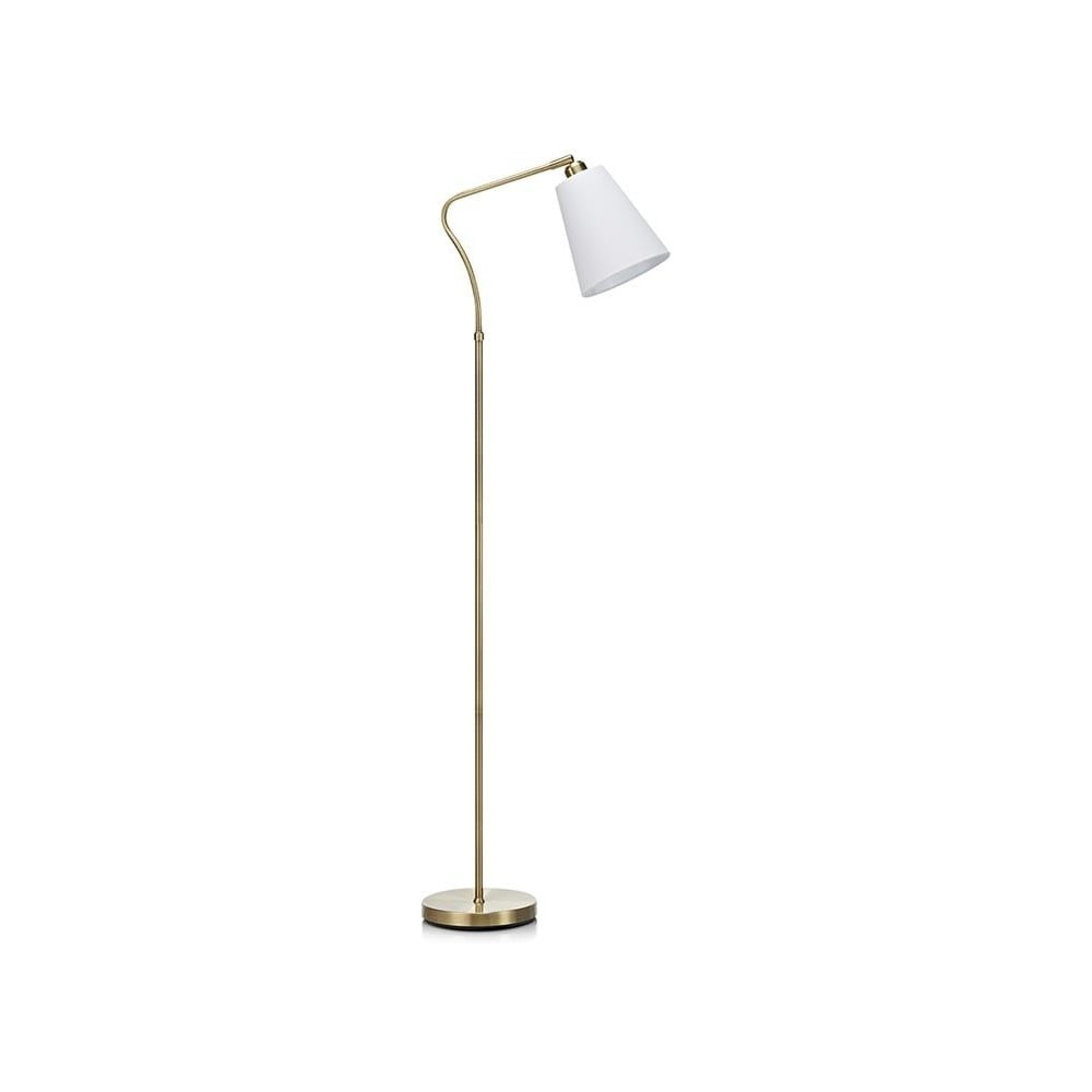 Stojací lampa v bílo-zlaté barvě Markslöjd Tindra