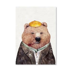 Plakát Brown Bear, 30x42 cm
