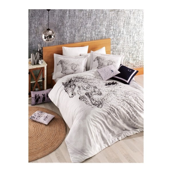 Lenjerie de pat cu cearșaf BHPC Sarah, 200 x 220 cm