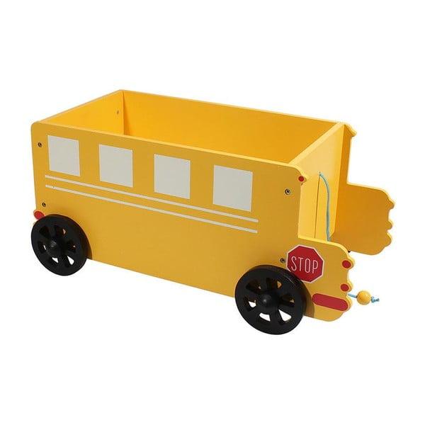 Dětský úložný box Yellow Car