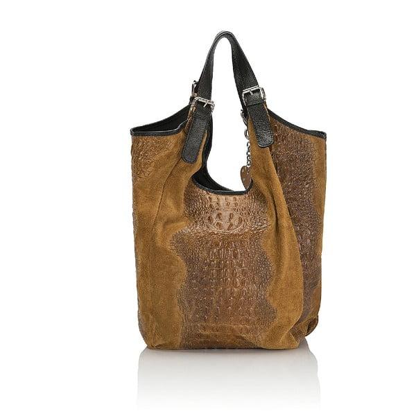 Kožená kabelka Giorgio Costa 15022 Cognac