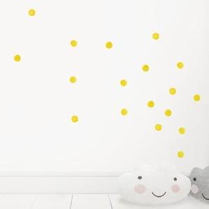 Žluté nástěnné znovu snímatelné samolepky Chocovenyl Dots