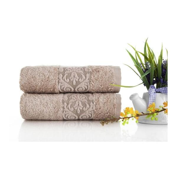 Sada 2ks ručníků Bamboo Glory Salmon, 50x90 cm