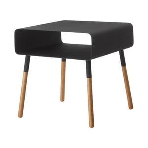 Černý odkládací stolek YAMAZAKI Plain, výška35cm