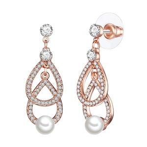 Cercei cu perlă albă Perldesse Oiu, ⌀ 6 mm