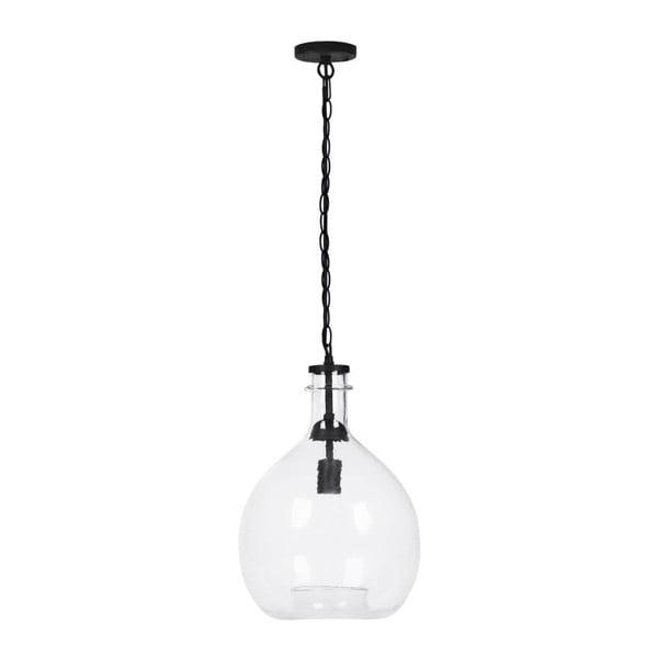 Czarna lampa wisząca Vivorum Sphere, ⌀ 33 cm