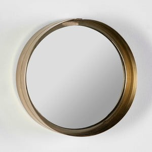 Oglindă de perete rotundă Thai Natura Wathap, ⌀ 28 cm, auriu