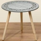 Šedý odkládací stolek Boltze Eres, ⌀56cm