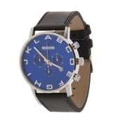 Pánské hodinky Alphabeth Chrono Leather Black/Blue