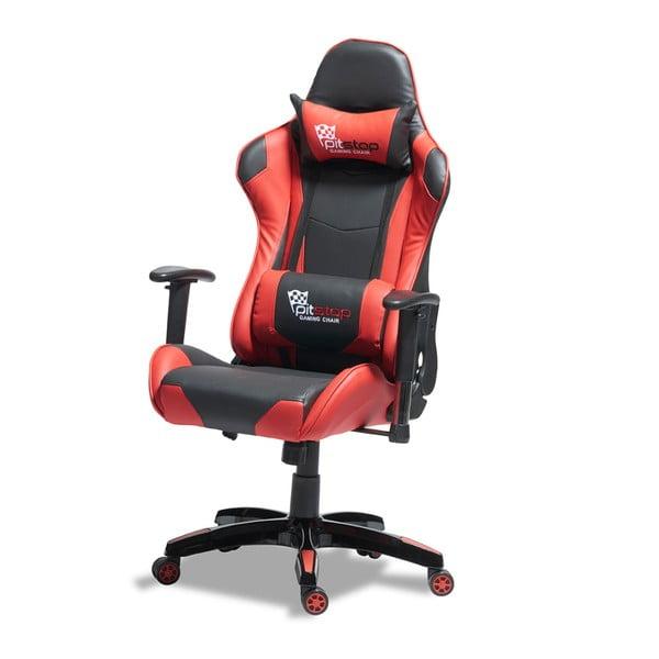 Czarno-czerwone krzesło biurowe Knuds Gaming