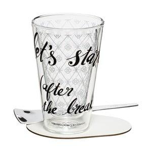Set na latte se sklenicí s dvojitou stěnou Ritzenhoff Virginia Romo, 260ml