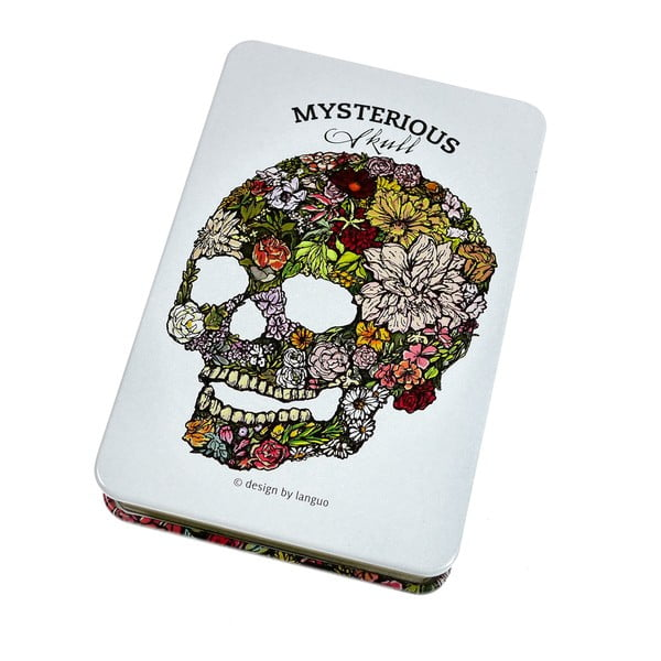 Plechový zápisník Skull