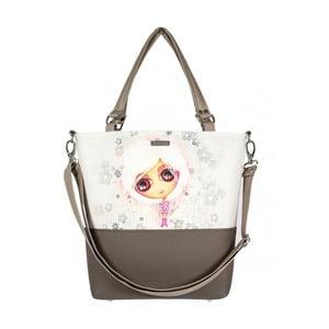 Hnědo-béžová kabelka Dara bags Lele No.552