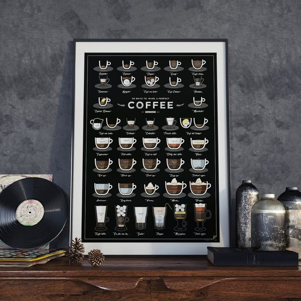 Plakát Follygraph 38 Ways To Make Perfect Coffee, 42x59,4 cm