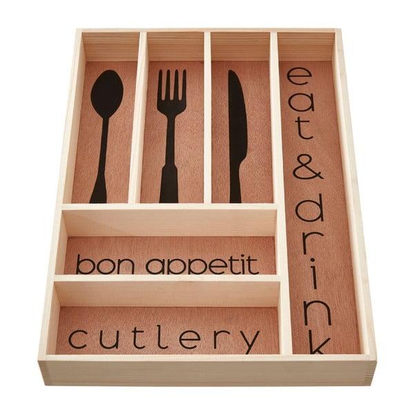 Úložný box na příbory z borovicového dřeva Premier Housewares Modern
