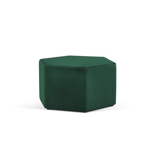 Lahvově zelený puf Milo Casa Marina, ⌀80cm