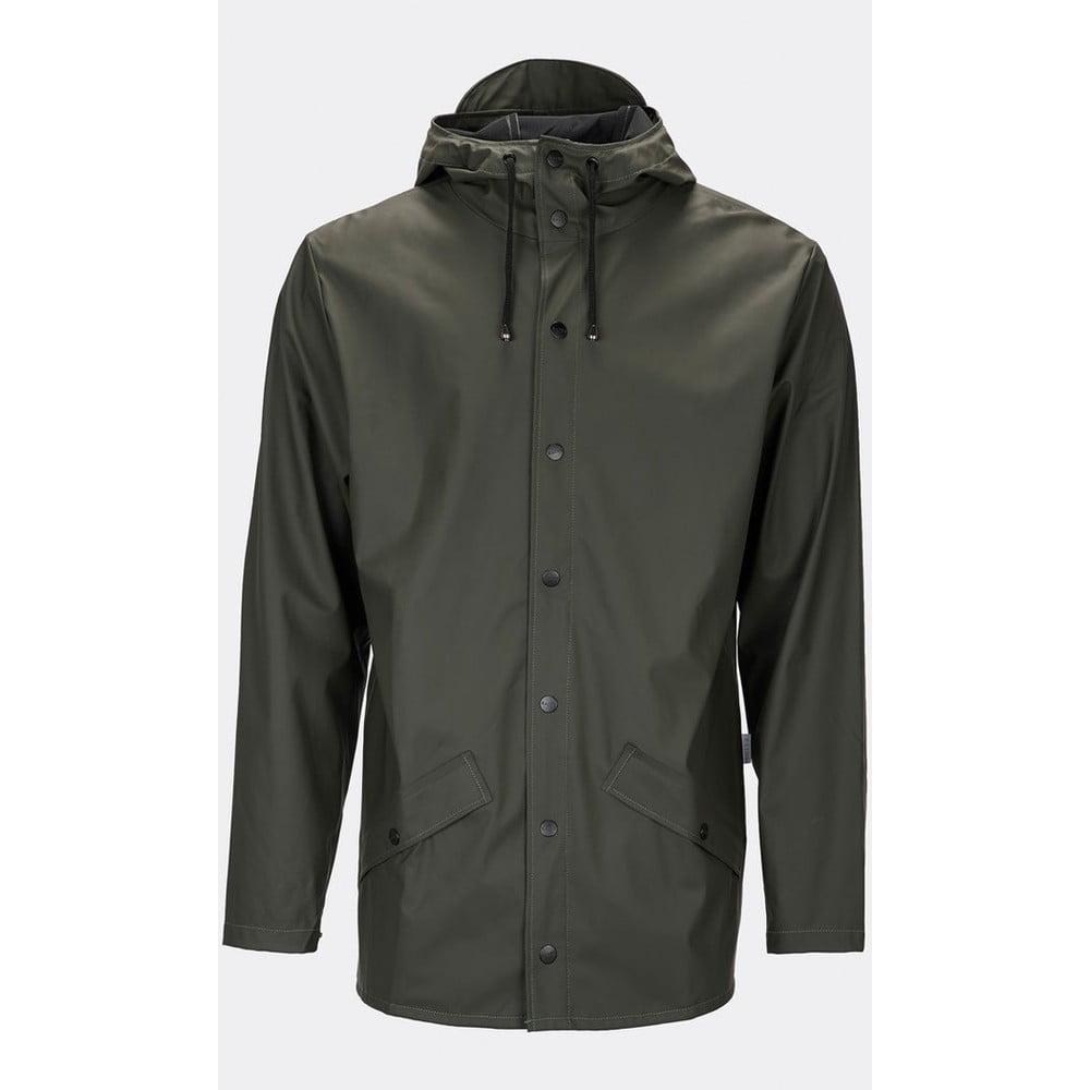 Tmavě zelená unisex bunda s vysokou voděodolností Rains Jacket, velikost XXS/XS