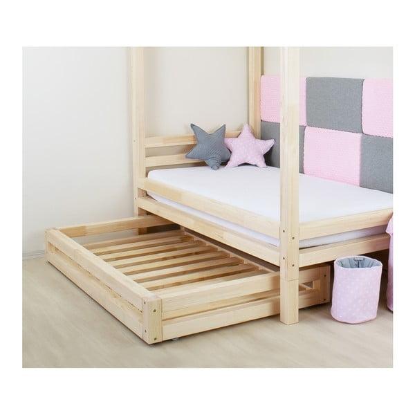 Set sertar pentru pat și 4 picioare înălțătoare, pentru patul Benlemi120x200cm, alb