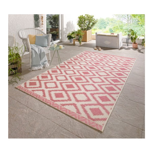 Růžovošedý koberec vhodný i na ven Bougari Kalora, 180x280cm
