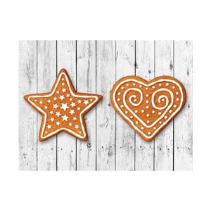 Sada 2 obdélníkových prostírání Crido Consulting Star & Heart, 40 x 30 cm