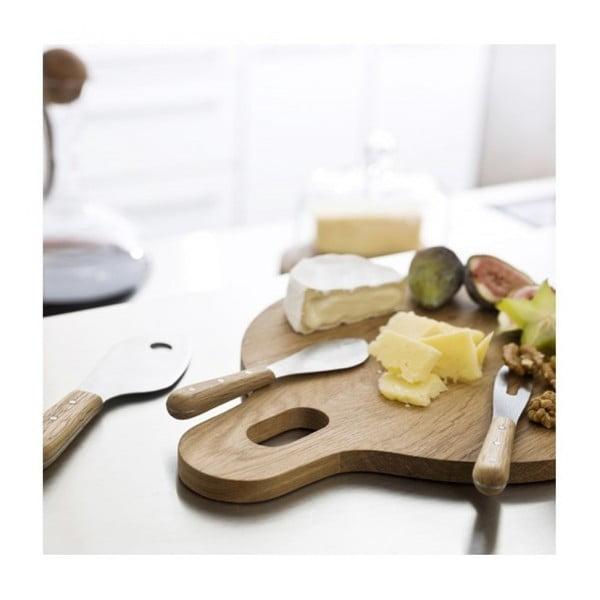 Sada nožů na sýr Sagaform Oval Oak