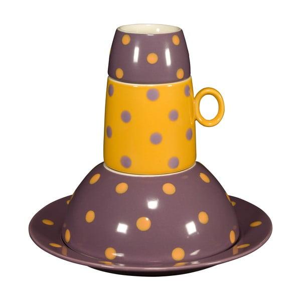 Dětská porcelánová sada Ramponi Baby Lilac