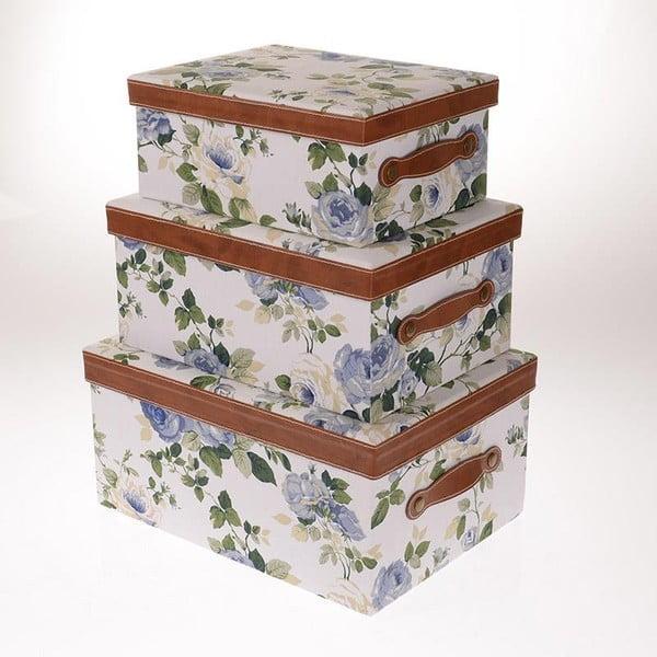 Sada 3 boxů Blue Roses
