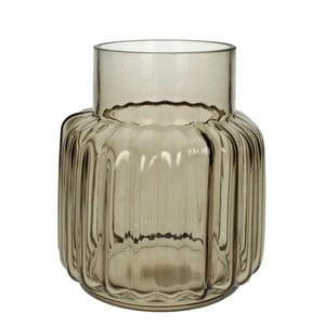 Hnědá skleněná váza HF Living, 20 cm