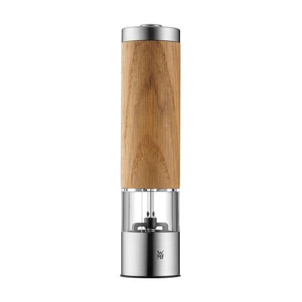 Râșniță electrică din lemn de stejar pentru piper și sare WMF, înălțime 21,5 cm