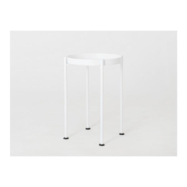 Masă auxiliară Custom Form Hanna, ⌀ 40 cm, alb