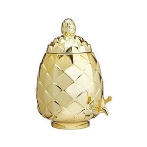 Nádoba zlaté barvy ve tvaru ananasu s pípou Kitchen Craft