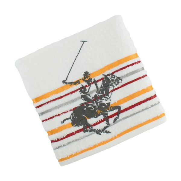 Bílo-žlutý bavlněný ručník BHPC Velvet, 50x100 cm
