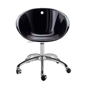 Černá židle na kolečkách Pedrali Gliss
