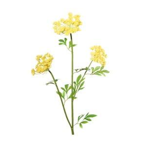 Umělá květina se žlutými květy Ixia Lace, výška97cm