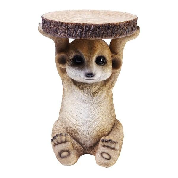 Măsuță în formă de animal Kare Design Mongoose, Ø 35 cm