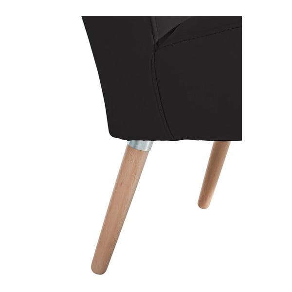 Černé křeslo Max Winzer Neele Leather Black
