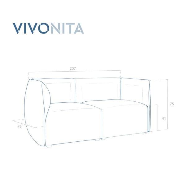 Šedá dvoumístná modulová pohovka Vivonita Velvet Cube