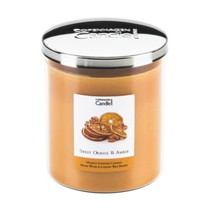 Aroma svíčka s vůní pomerančů a jantaru Copenhagen Candles, doba hoření 70 hodin