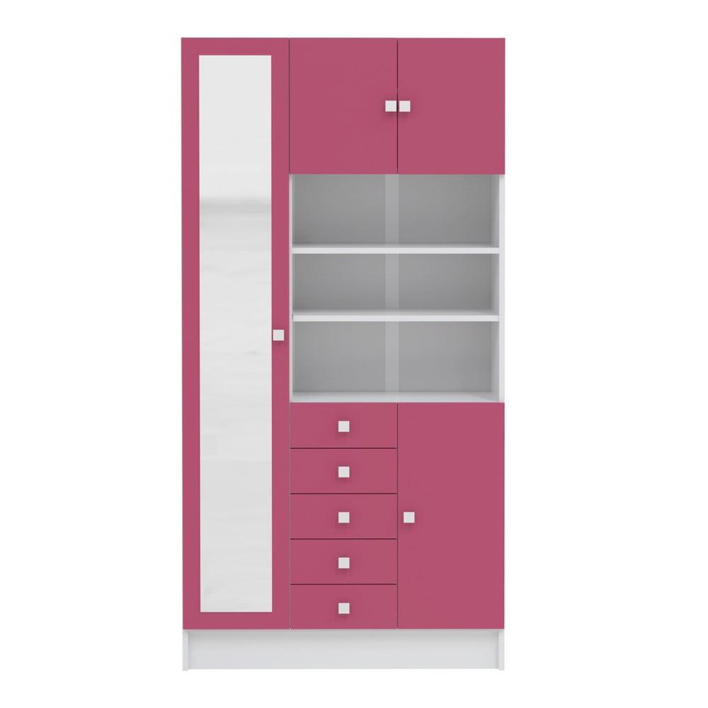 Růžová koupelnová skříňka Symbiosis André, šířka 90 cm