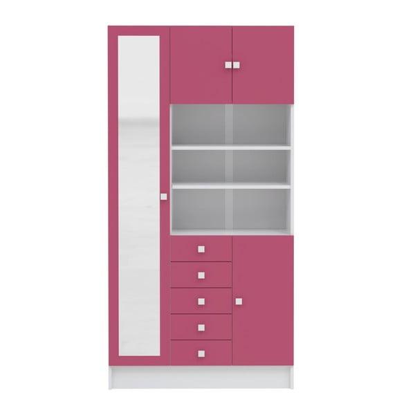 Růžová koupelnová skříňka Symbiosis André,šířka90cm